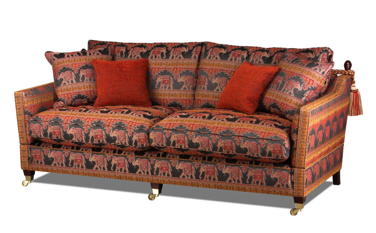 Dar landhaus sofa klassiker mit den abklappbaren armlehnen - Englische landhaus sofas ...